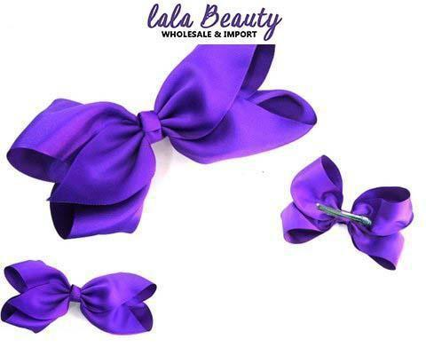 Texas Size Jumbo Hair Bow Purple (Dozen)