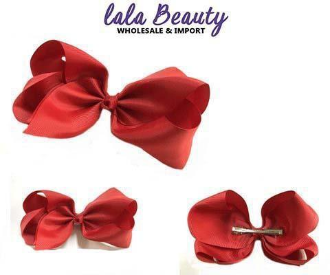 Texas Size Jumbo Hair Bow Red (Dozen)