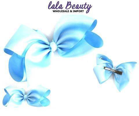 Texas Size Jumbo Hair Bow Sky Blue (Dozen)