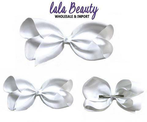 Texas Size Jumbo Hair Bow White (Dozen)
