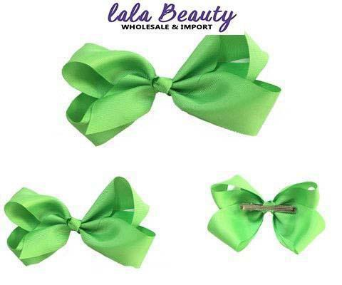 Texas Size Jumbo Hair Bow Light Green (Dozen)