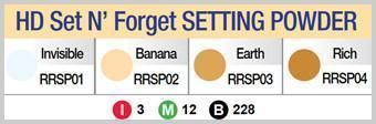 #Rrsp Hd Set N Forget Powder (3Pc) - Multiple Colors