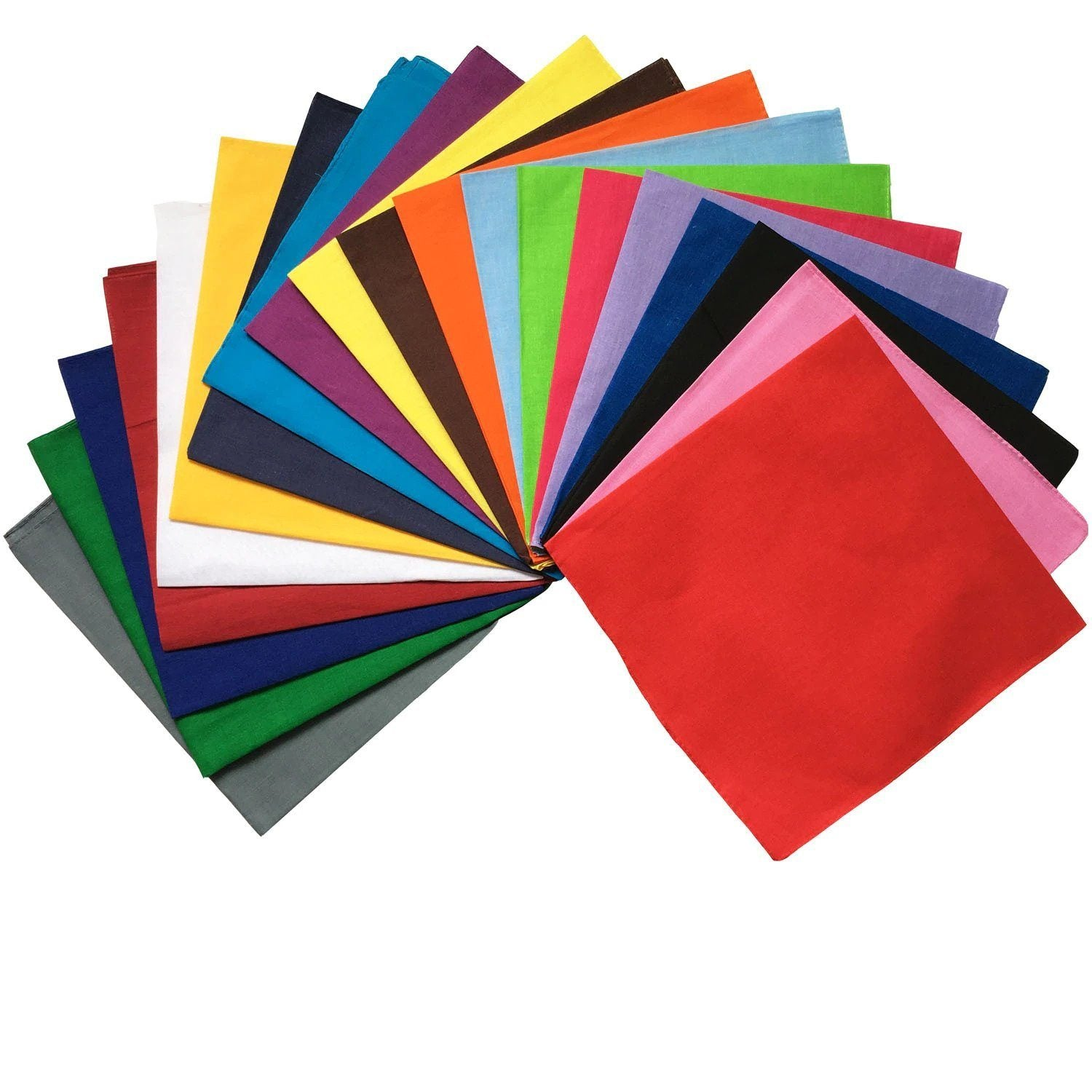 Solid Color Bandanas (12PC)