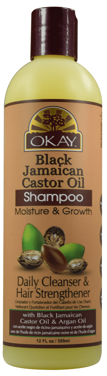 Okay Black Jamaican Castor Oil Shampoo, 12Oz