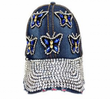 Blue Butterfly Denim Hat (PC)