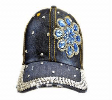 Blue Flower Denim Hat (PC)