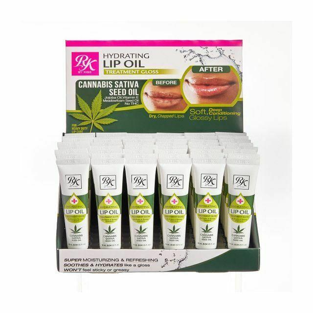 Kiss Hydrating Cannabis Sativa Seed Lip Oil #RL004D1 (48PC)