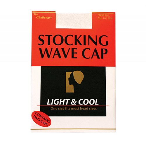 The Challenger Stocking Wave Cap White #CH107WH (12PC)