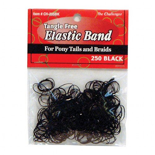 The Challenger Elastic Bands #CH205BK (250PC)