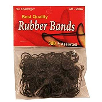 The Challenger Rubber Bands Assorted Sizes #CH200A (300PC) (12PK)