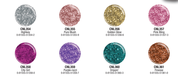 LA Colors Glitter Vibes Nail Polish (3PC)