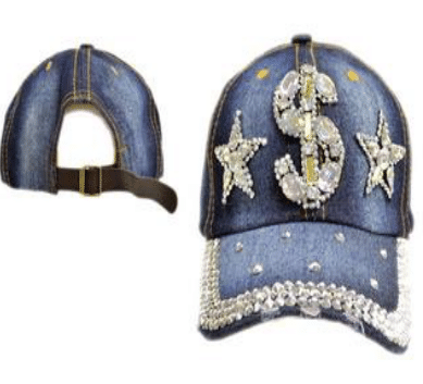 Money Dollar Sign Denim Hat (PC)