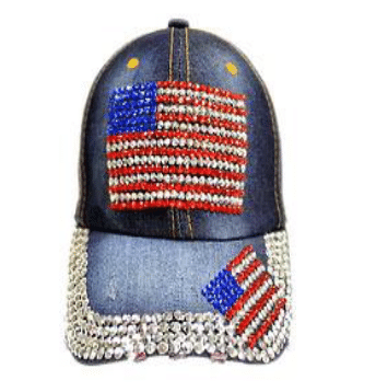 Double USA Flag Denim Hat (PC)