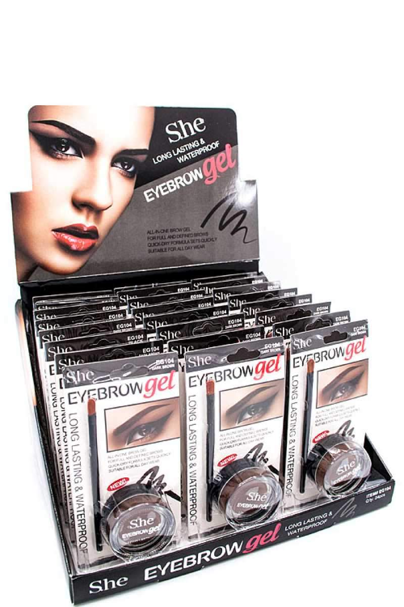 She Makeup Long Lasting & Waterproof Eyebrow Gel Set #EG104 (24PC)
