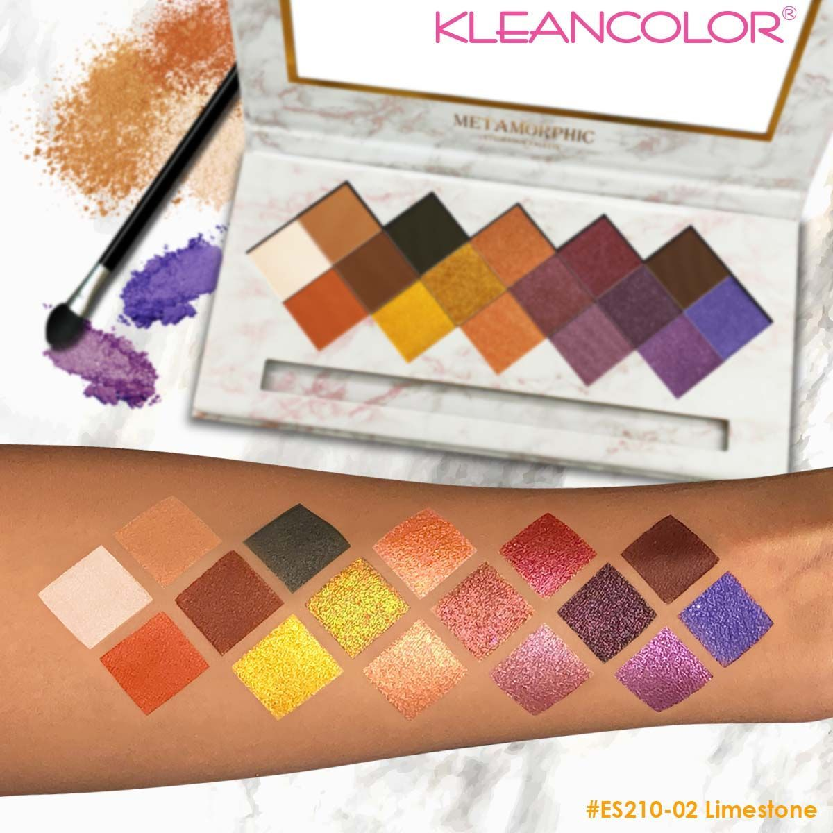 KleanColor Metamorphic Eyeshadow Palette Set #ES210 (12PC)