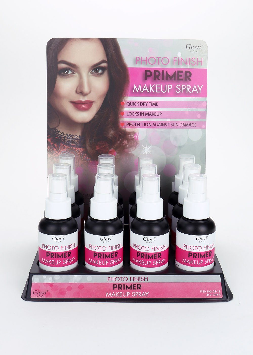 Giovi Photo Finish Primer Makeup Spray Set #GS18 (12PC)
