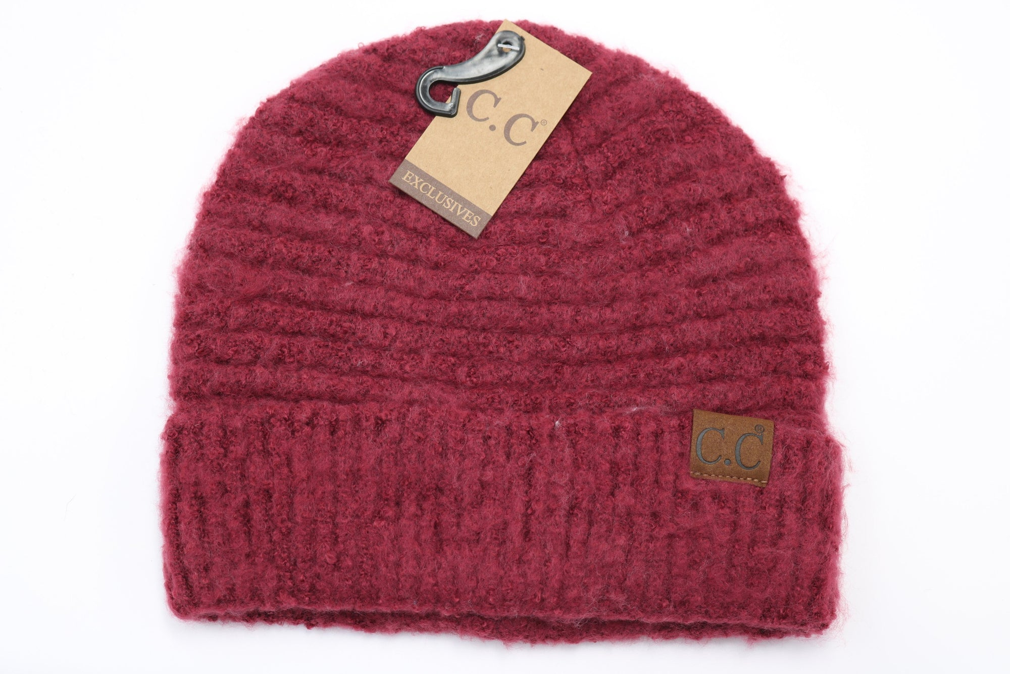 C.C. Solid Boucle Knit Cuff Beanie #HAT7006 (PC)