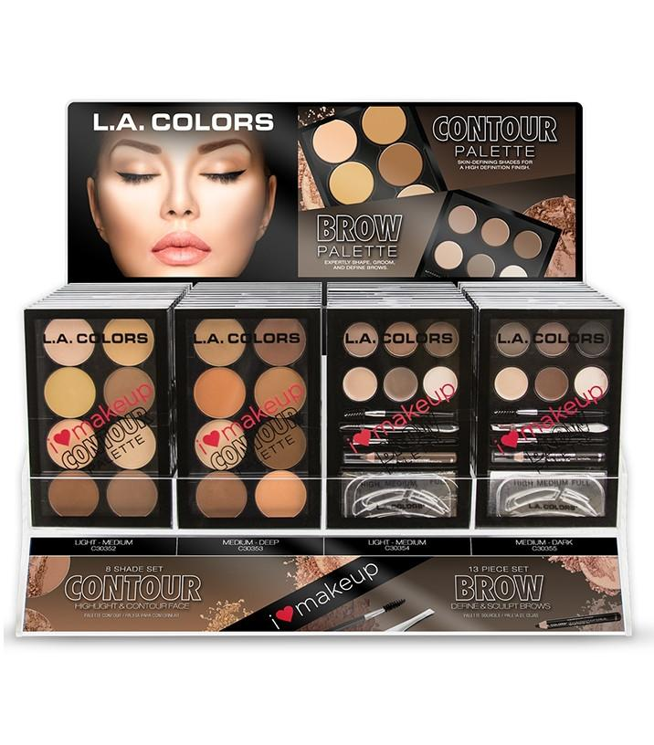 LA Girl Contour / Brow Palette Set/Display #CAD52 (48PC)