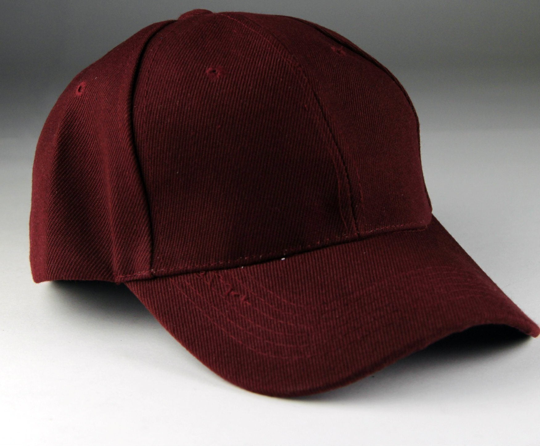 Velcro Baseball Hat Burgundy (Pc)
