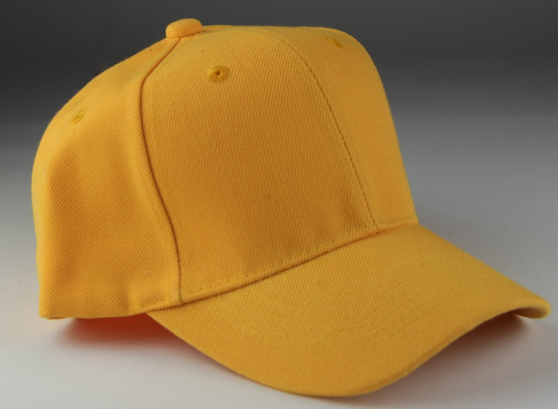 Velcro Baseball Hat Yellow (Pc)