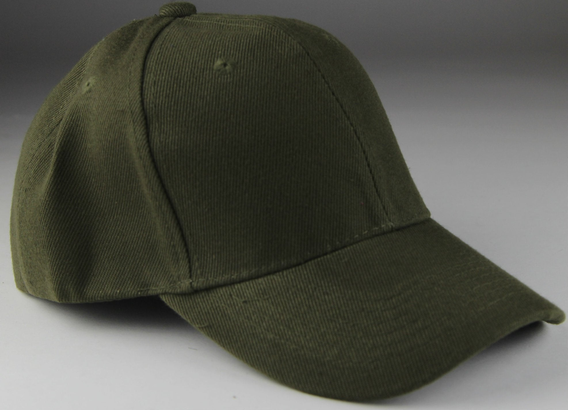 Velcro Baseball Hat Olive (Pc)