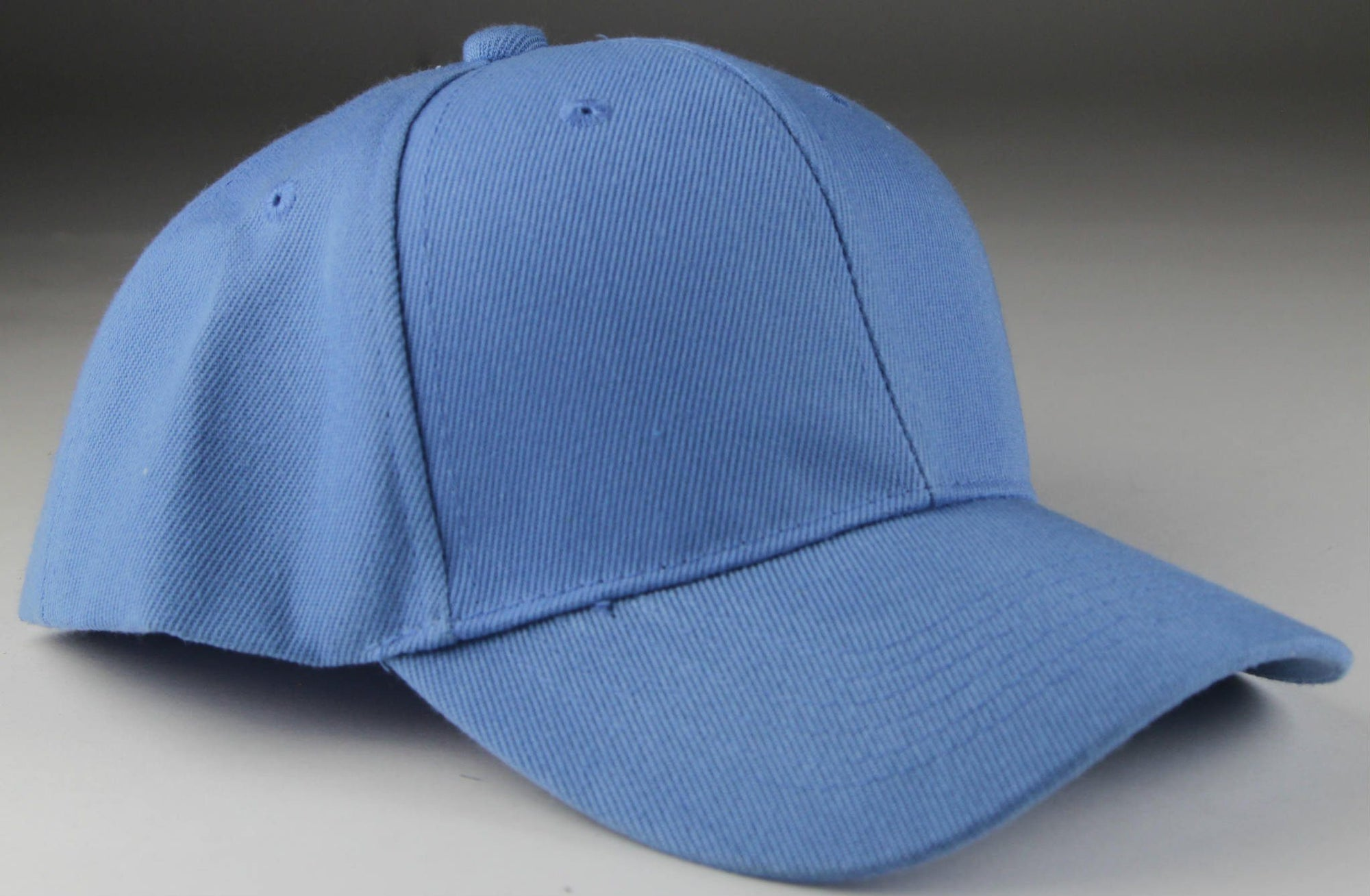 Velcro Baseball Hat Light Blue (Pc)