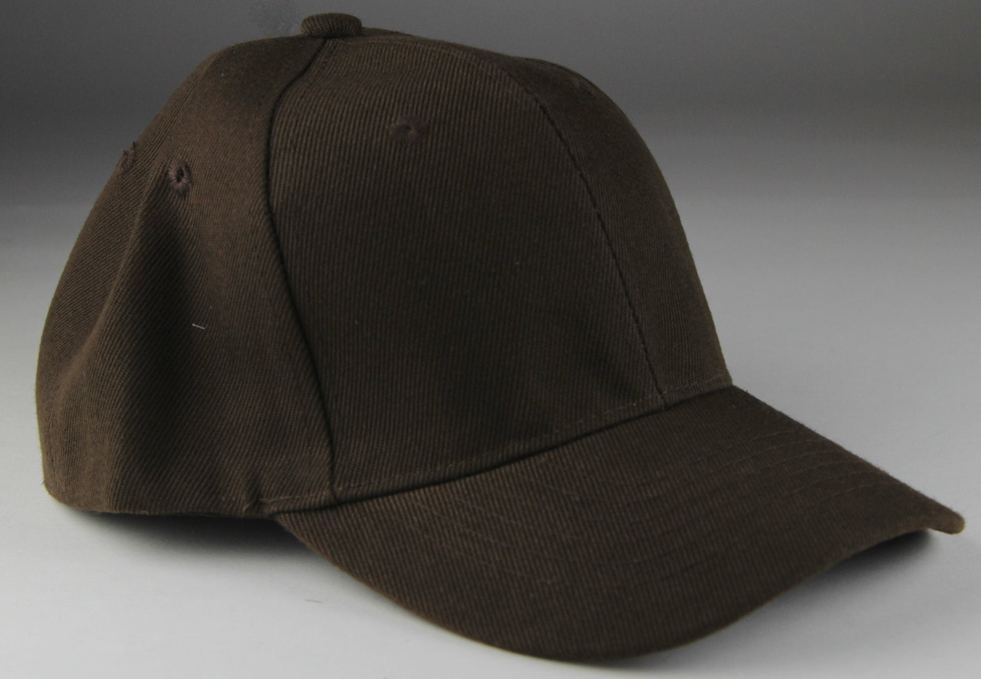 Velcro Baseball Hat Brown (Pc)
