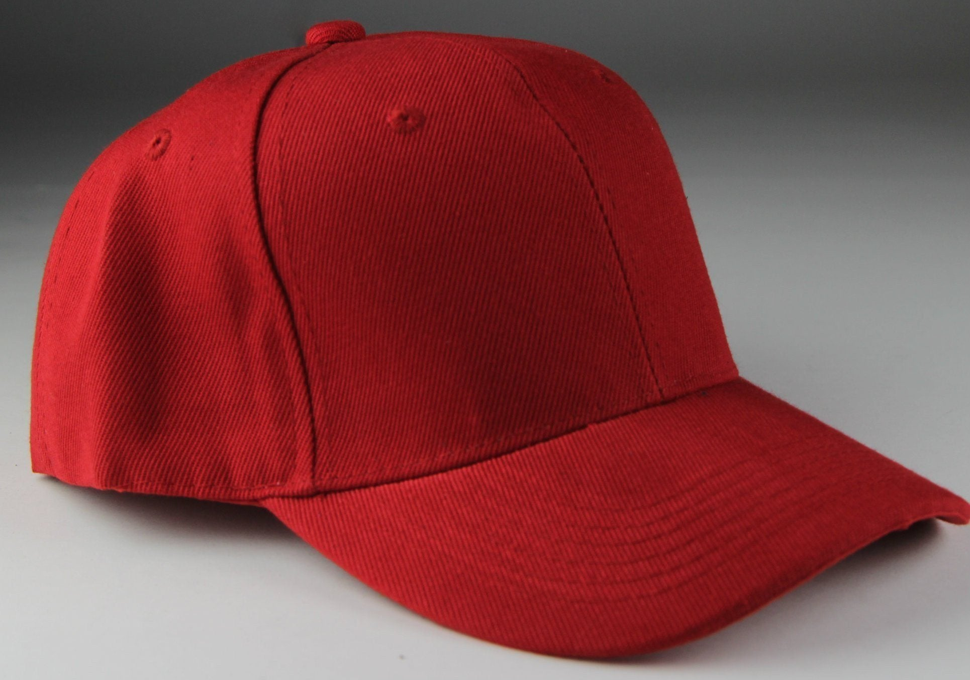 Velcro Baseball Hat Red (Pc)