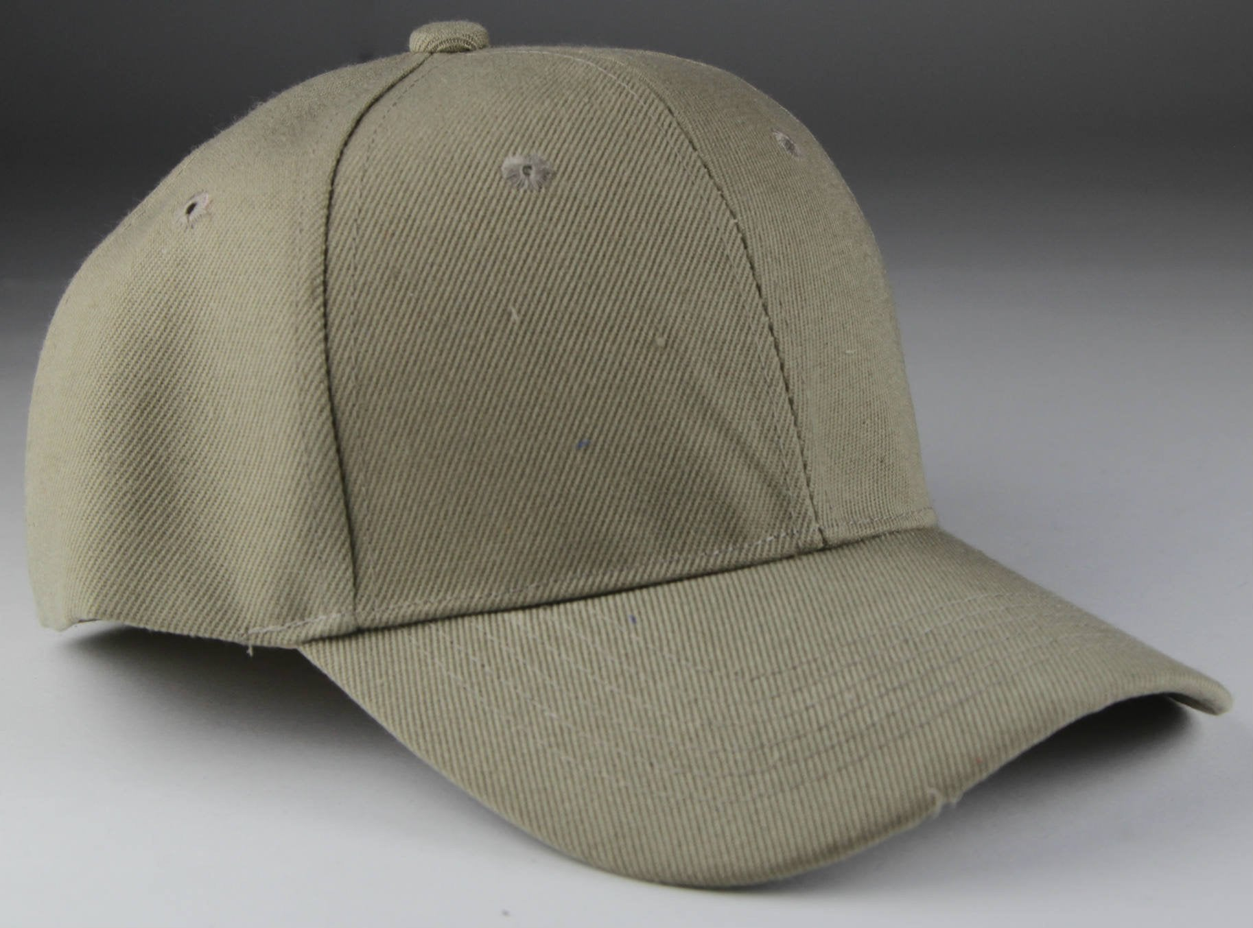 Velcro Baseball Hat Khaki (Pc)