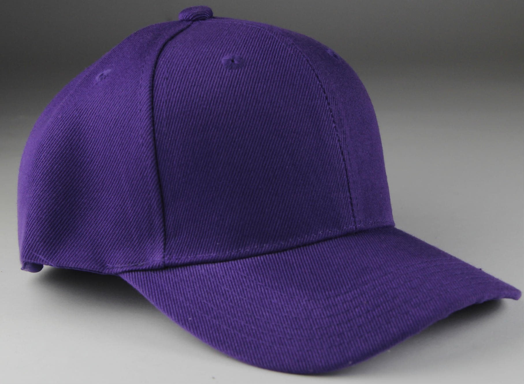 Velcro Baseball Hat Purple (Pc)
