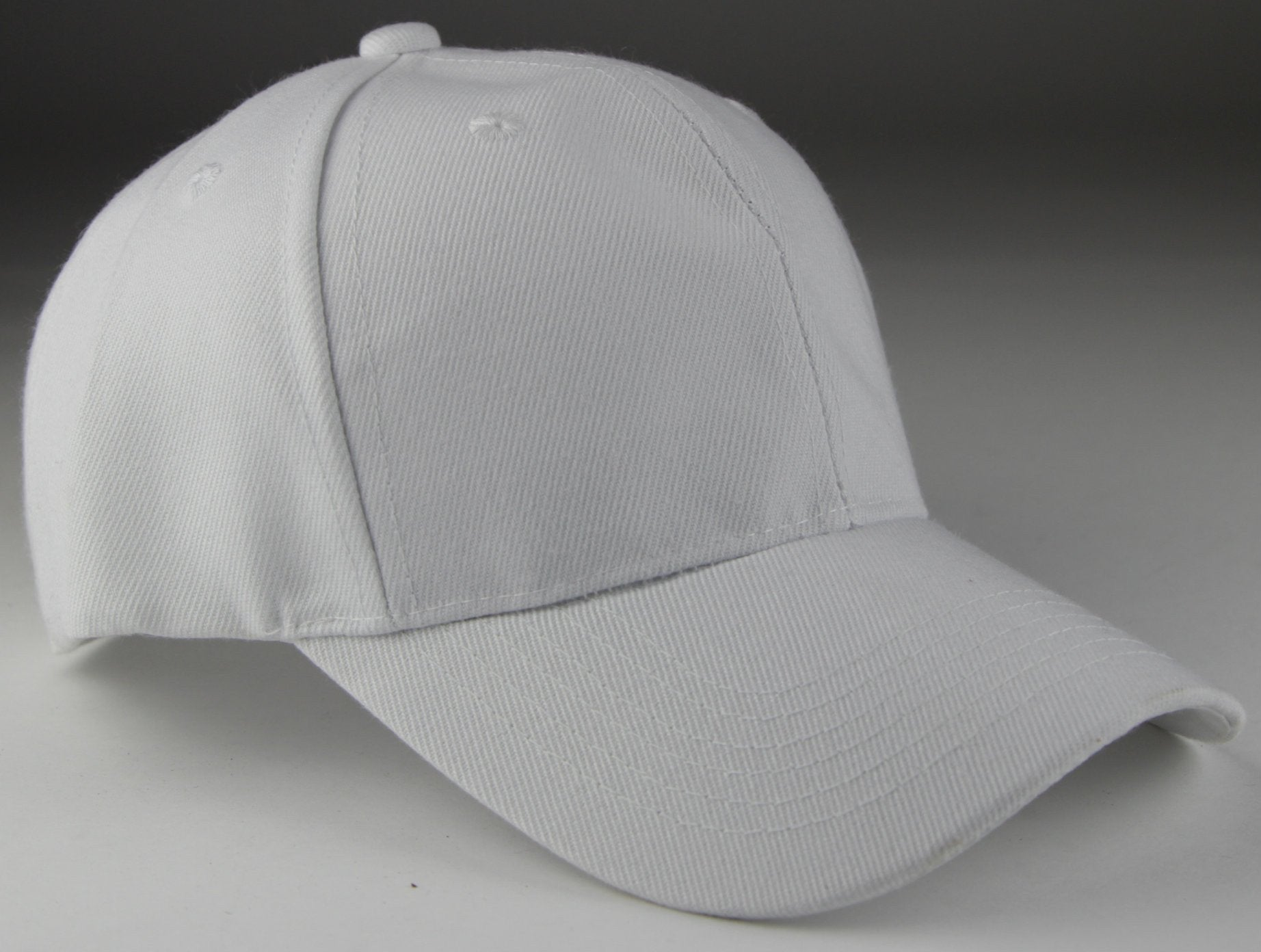 Velcro Baseball Hat White (Pc)