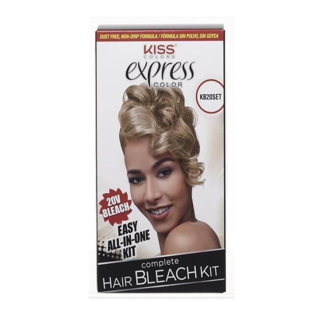 KISS Express Color Complete Hair Bleach Kit #KB20SET (2PC)