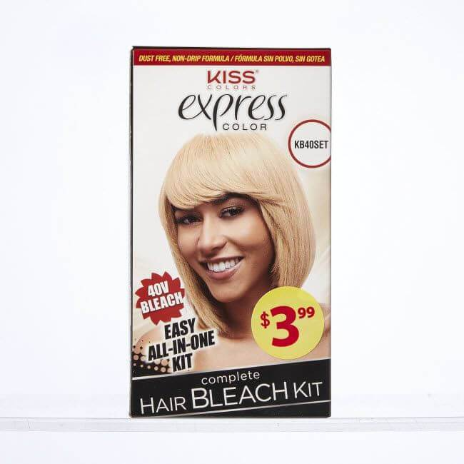 KISS Express Color Complete Hair Bleach Kit #KB40SET (2PC)