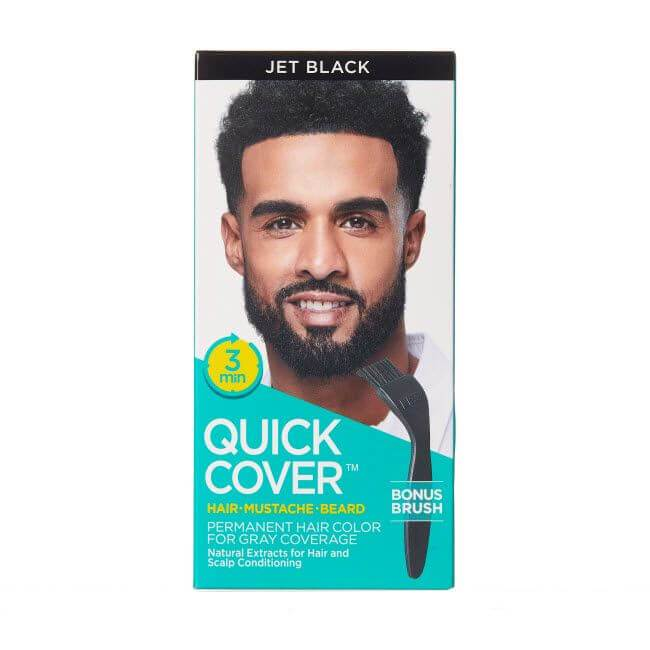 KISS Quick Cover Hair Mustache Beard #QMC (2PC)