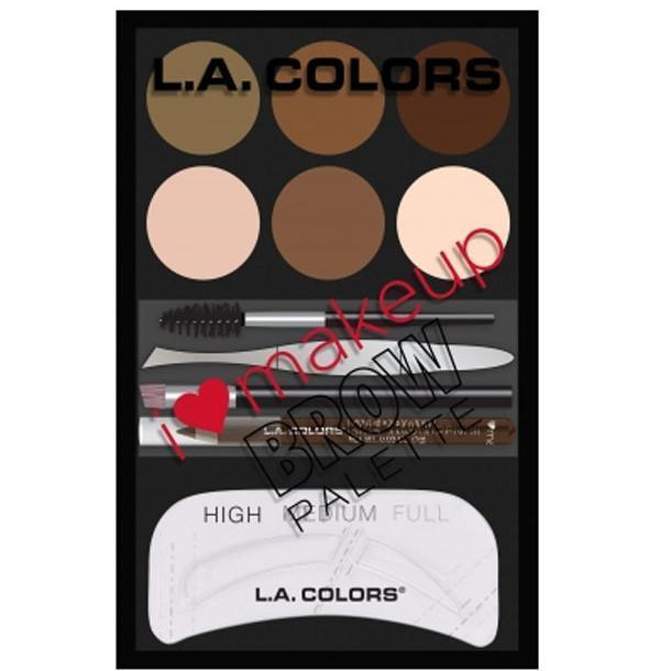 L.A. Colors I Heart MakeUp Brow Palette (3PC)