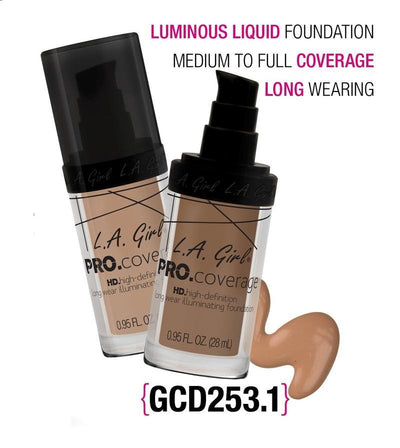 LA Girl HD Pro Coverage Foundation Set/Display #GCD253.1 (144PC)