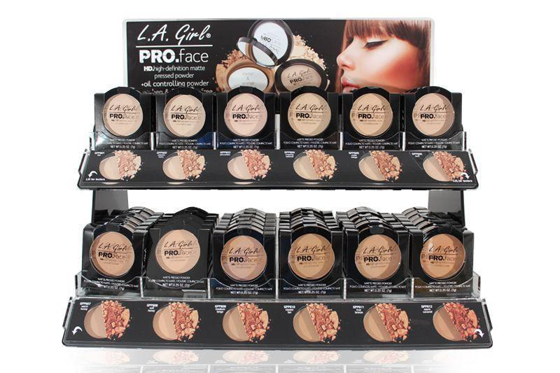 LA Girl Pro Face Pressed Powder Set/Display #GCD198B.1 (144PC)