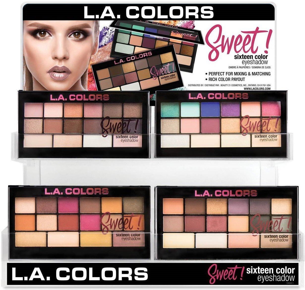 LA Colors Sweet Sixteen Eyeshadow Set/Display #CAD92.1 (60PC)
