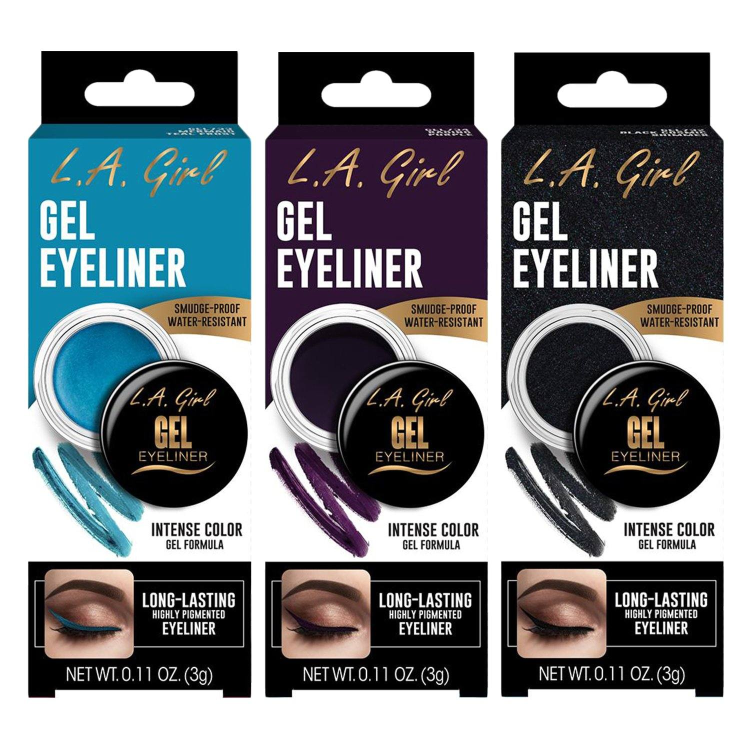 LA Girl Gel Eyeliner #GEL (3PC)