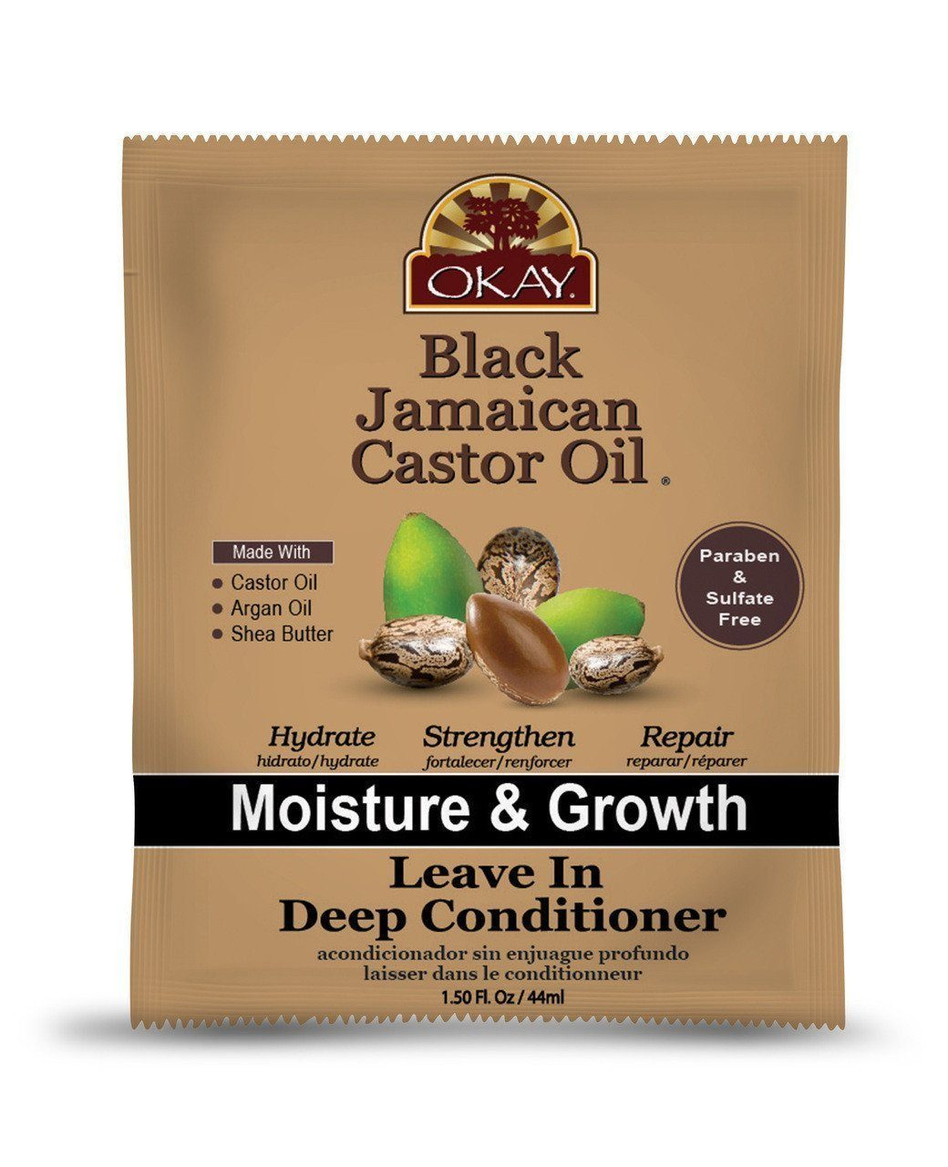 Okay Black Jamaican Castor Oil Leave In Conditioner, 1.5oz