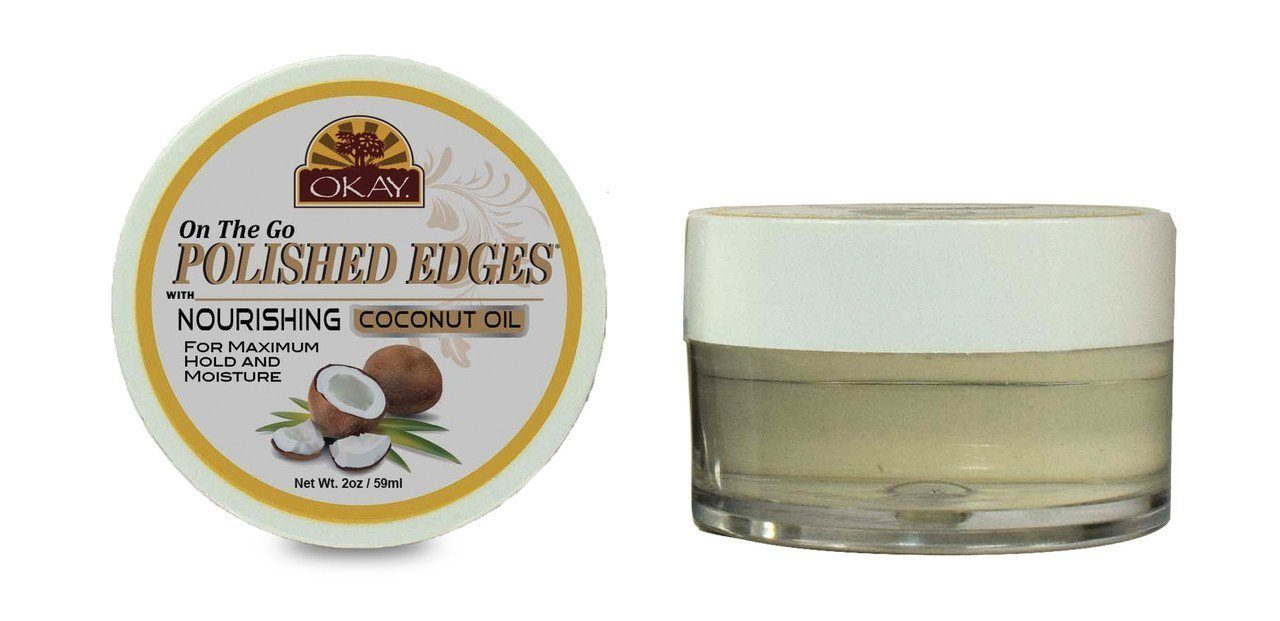 Okay Polished Edges with Coconut Oil, 0.5oz (12PC)