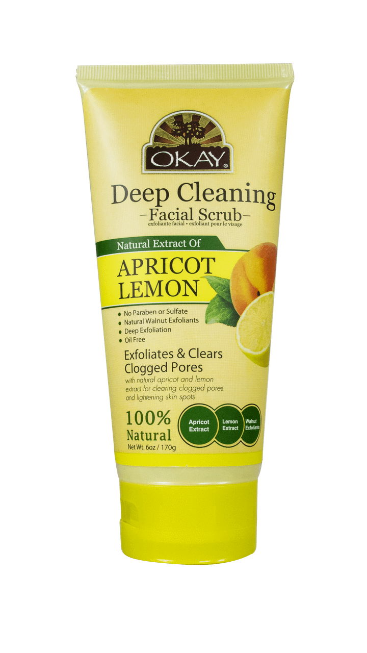 Okay Deep Cleaning Facial Scrub, Lemon
