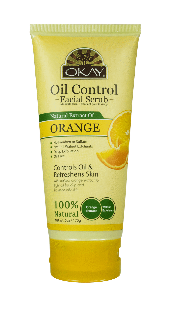 Okay Oil Control Facial Scrub, Orange