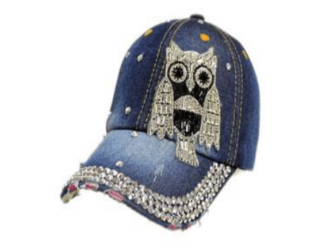 Silver Owl Denim Hat (PC)