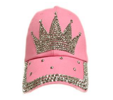 Pink Crown Rhinestone Hat (PC)