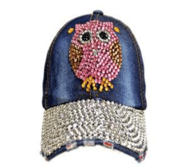 Pink Owl Denim Hat (PC)