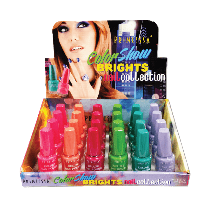 Princessa Color Show Brights Nail Collection Set #SN-591 (24PC)