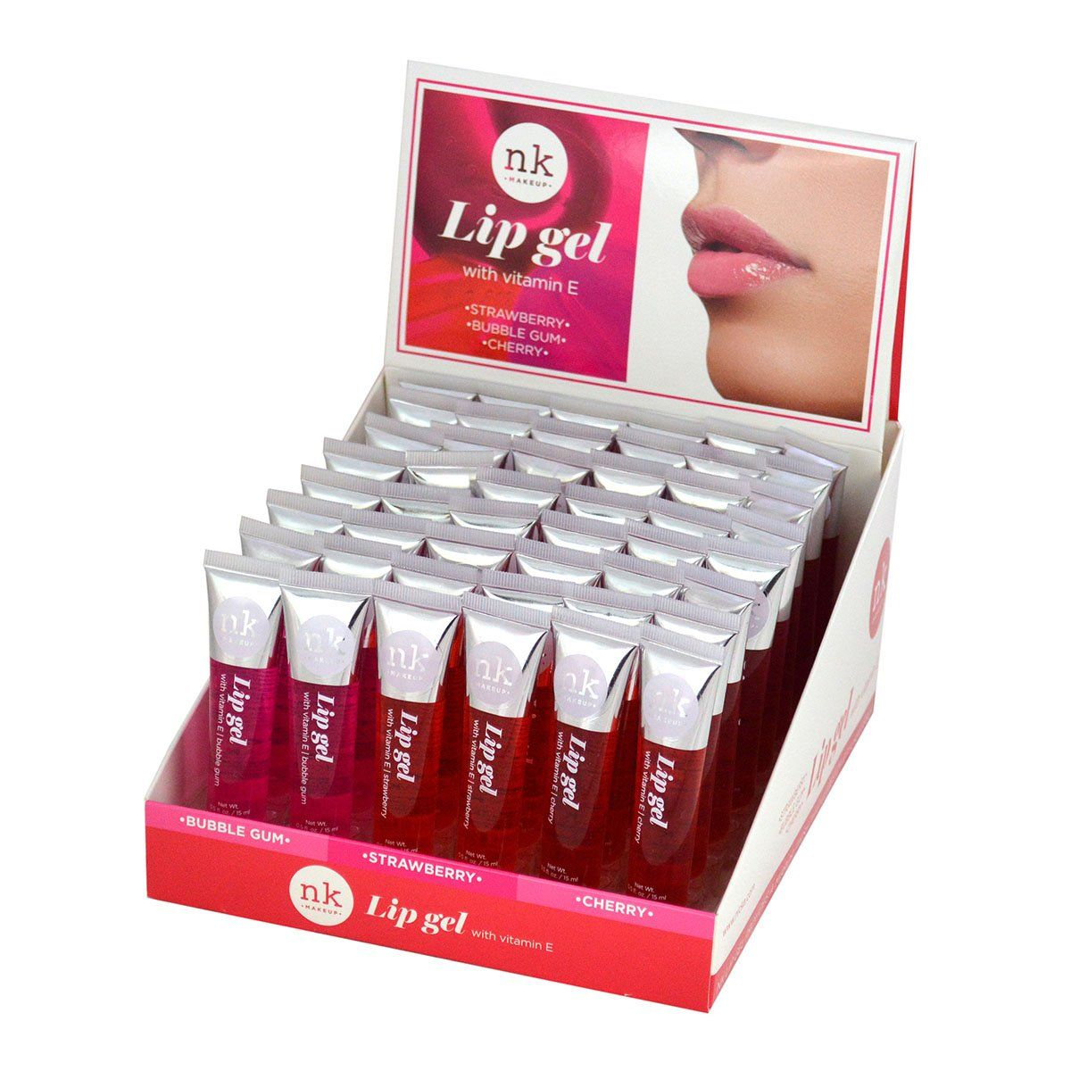Nicka K Lip Gel With Vitamin E #SET-LIPGEL (48PC)