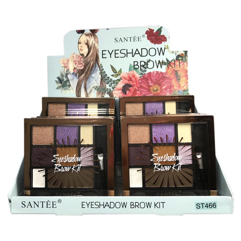 Santee Eyeshadow Brow Kit Set #ST466 (12PC)