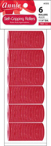 #1313 Annie Red Self-Gripping Rollers (6Pk)